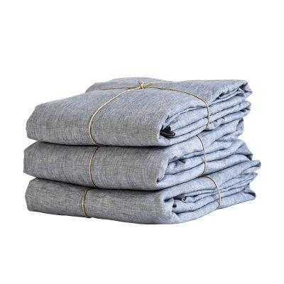 Tell Me More Linen Duvet Cover 240x220 cm, Woven Light Blue