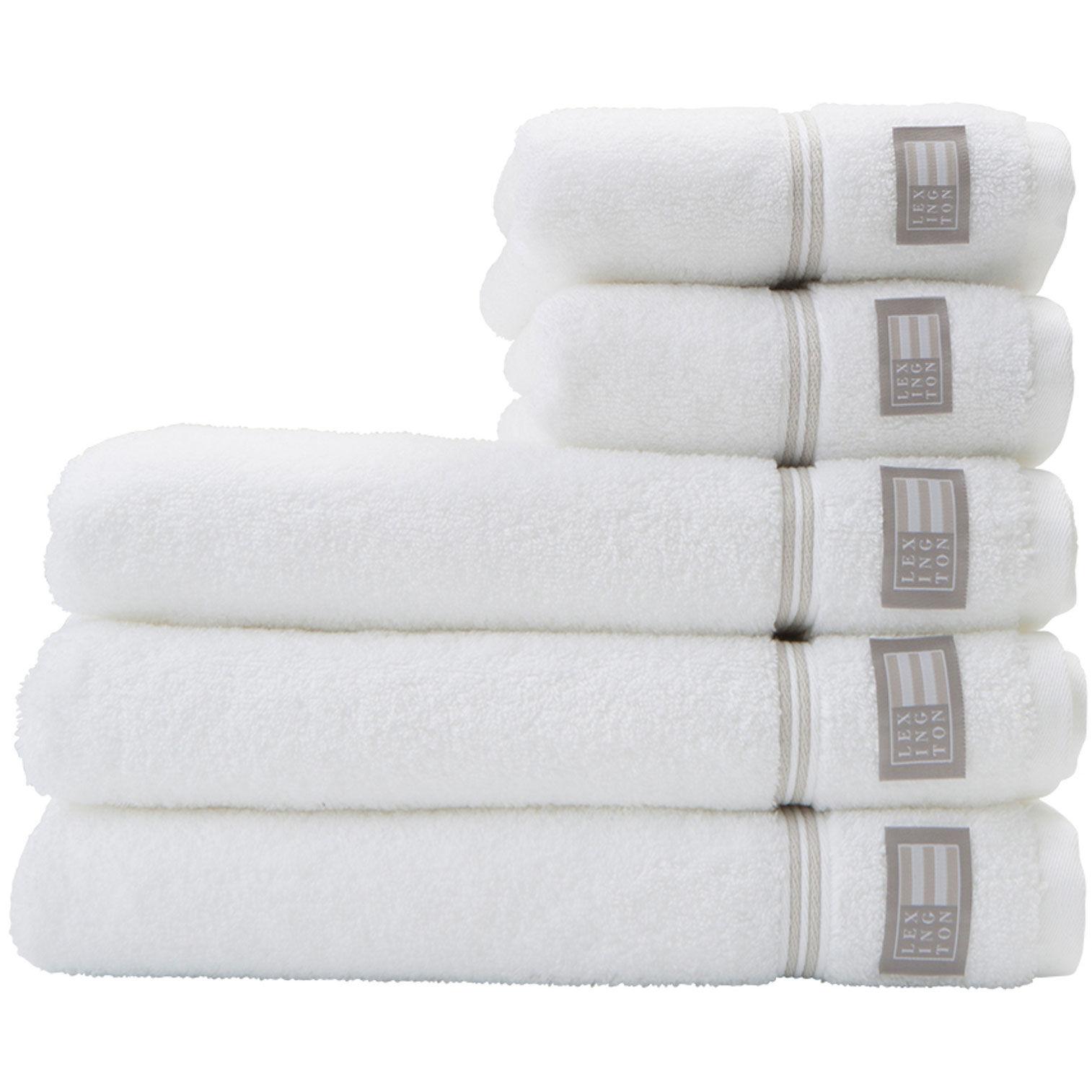 Lexington Hotel Towel 30x50 cm, White/Beige