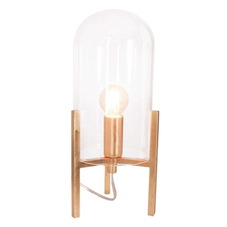 Rydéns By Rydéns Smokey Table Lamp, Gold Matt/Clear