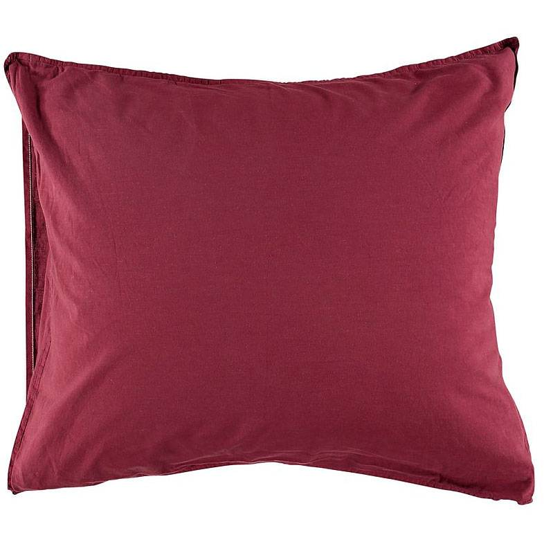Gripsholm Vintage Gots Pillowcase 50x90 cm, Burgundy