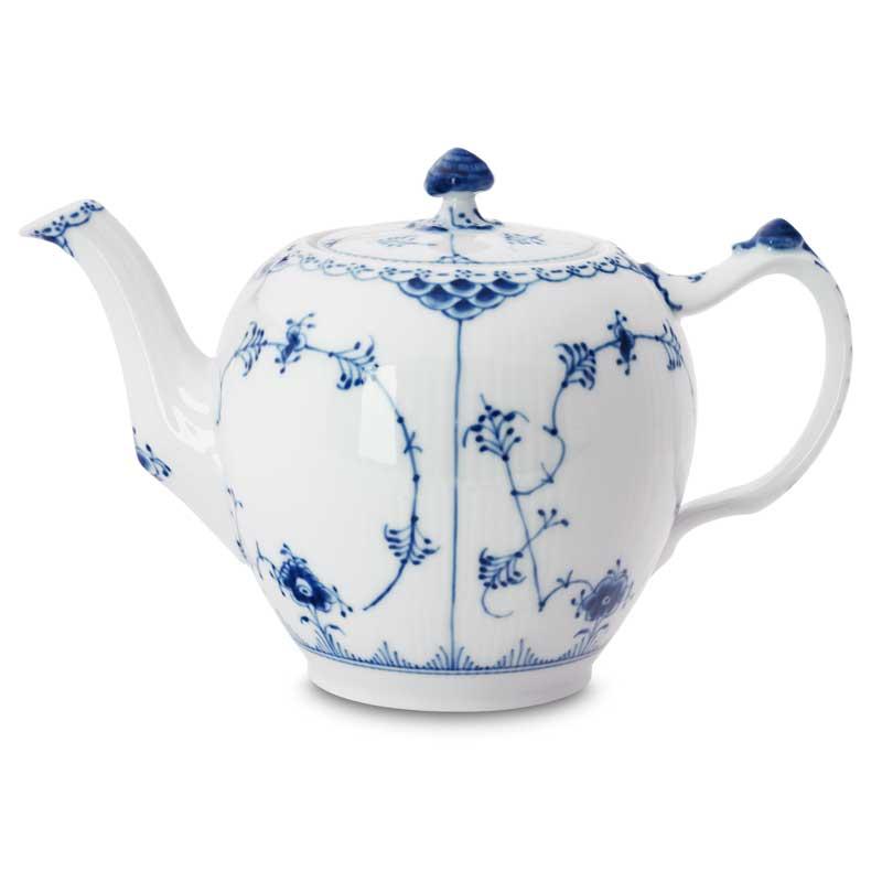 Royal Copenhagen Blue Fluted Half Lace Teekannu 1L