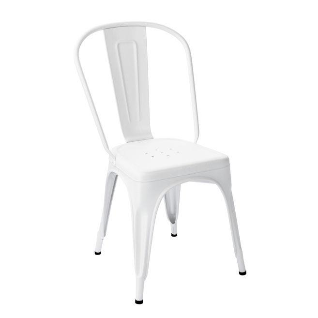 Tolix Tuoli A Ruostumaton Teräs/Valkoinen/Kiiltävä
