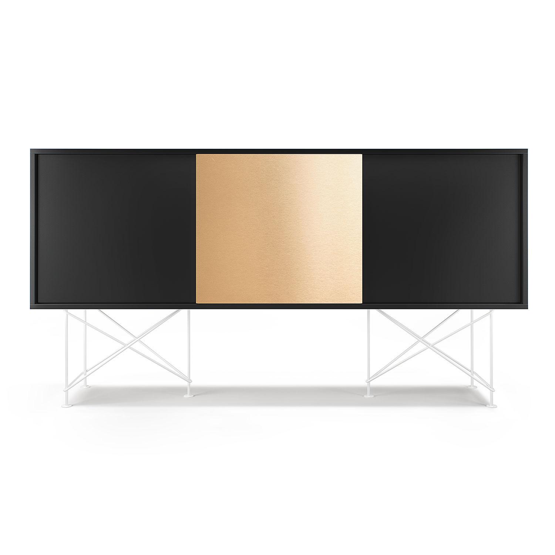 Decotique Vogue Sivupöytä 180cm, Antrasiitti/Valkoi.