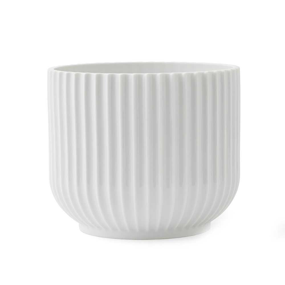 Lyngby Porcelæn Lyngby Kukkaruukku Medium, Valkoinen