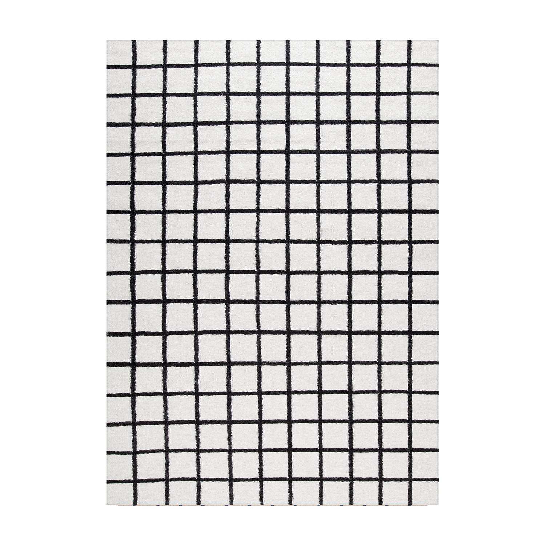 Decotique Tapis Damier Matto 300x400cm, Valkoinen/Musta