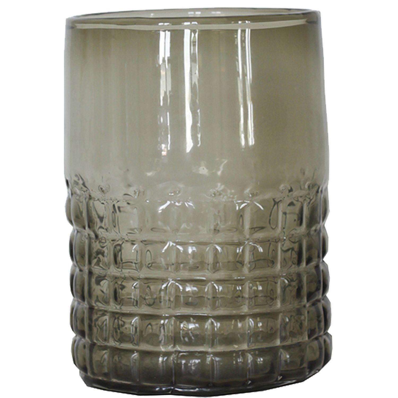 Tell Me More Facette Candleholder L, Grey