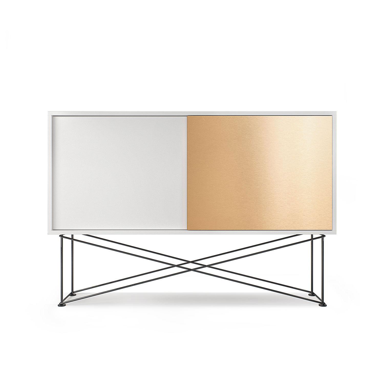 Decotique Vogue Sideboard 136H, Valkoinen/1W1B/Musta