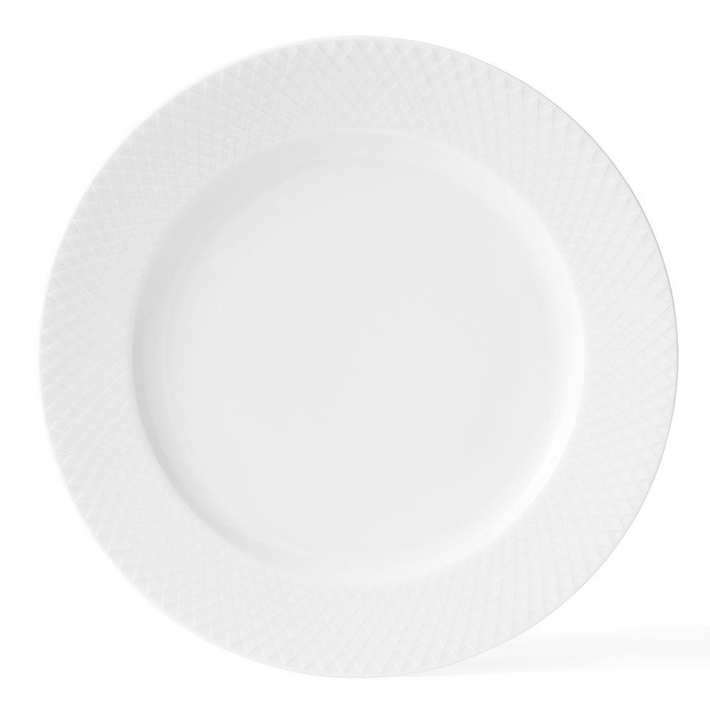 Lyngby Porcelæn Rhombe Lautanen Ø27cm, Valkoinen