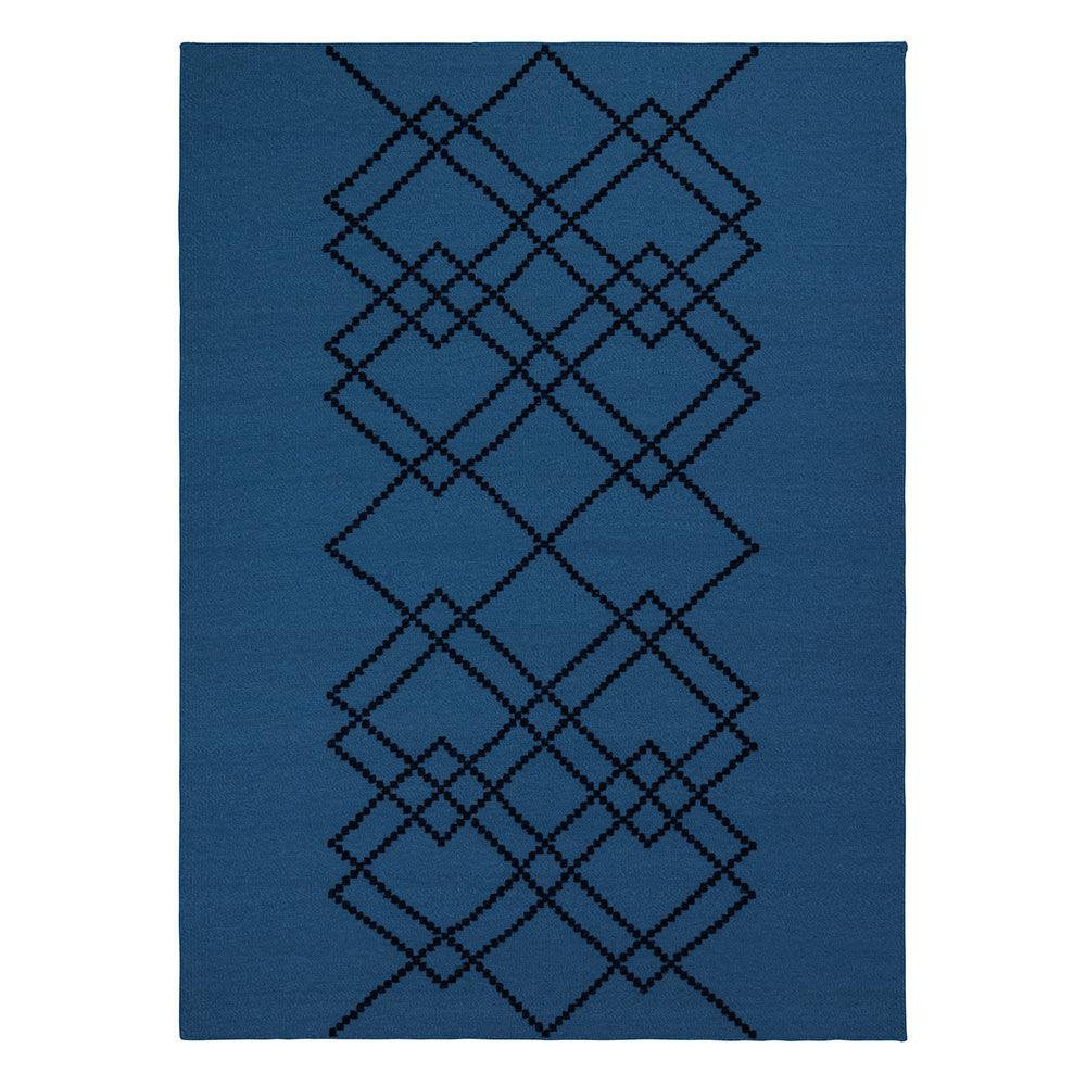 Louise Roe Matto Borg 200x300cm, Royal Blue