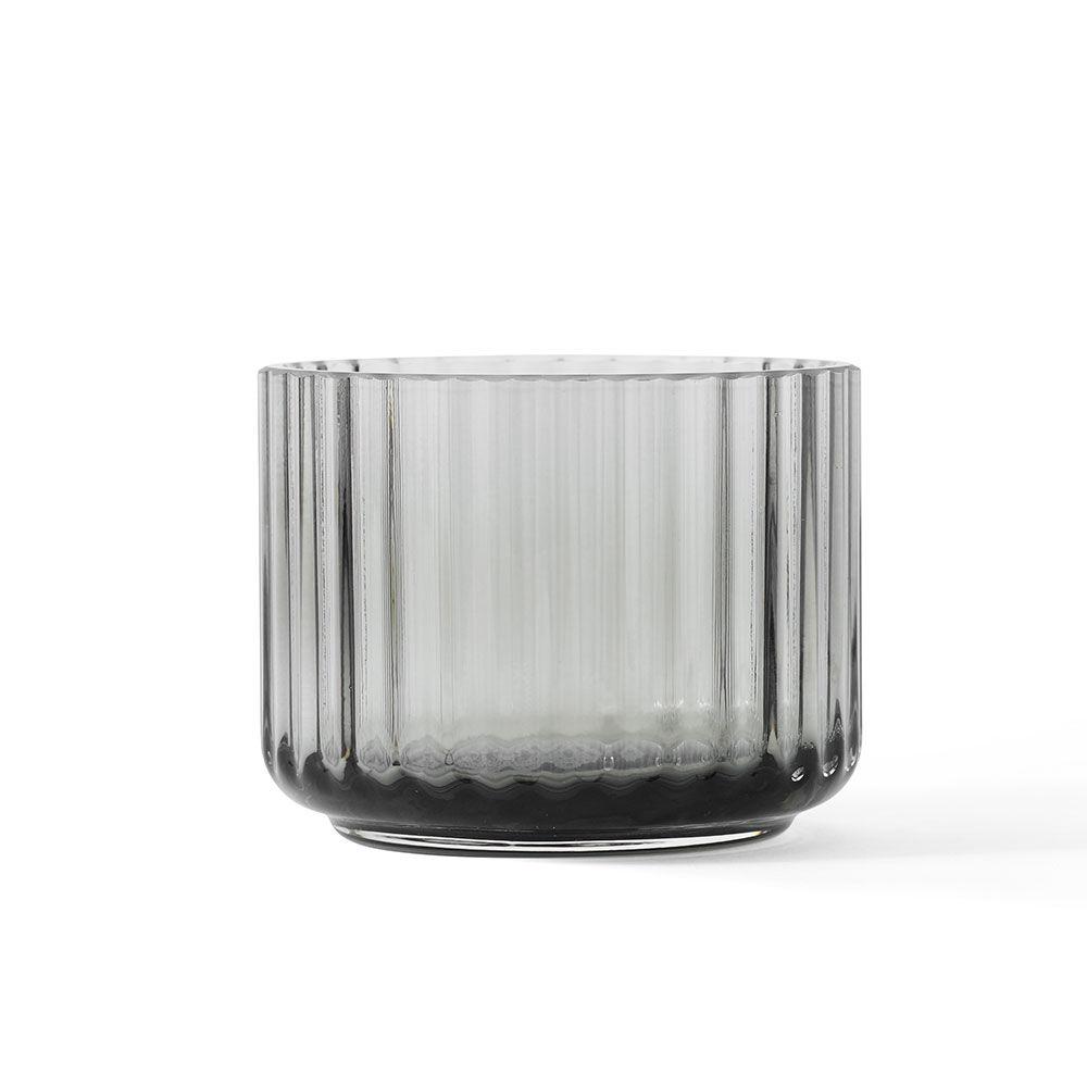 Lyngby Porcelæn Lyngby Kynttilälyhty Ø6,7cm, Savunharmaa