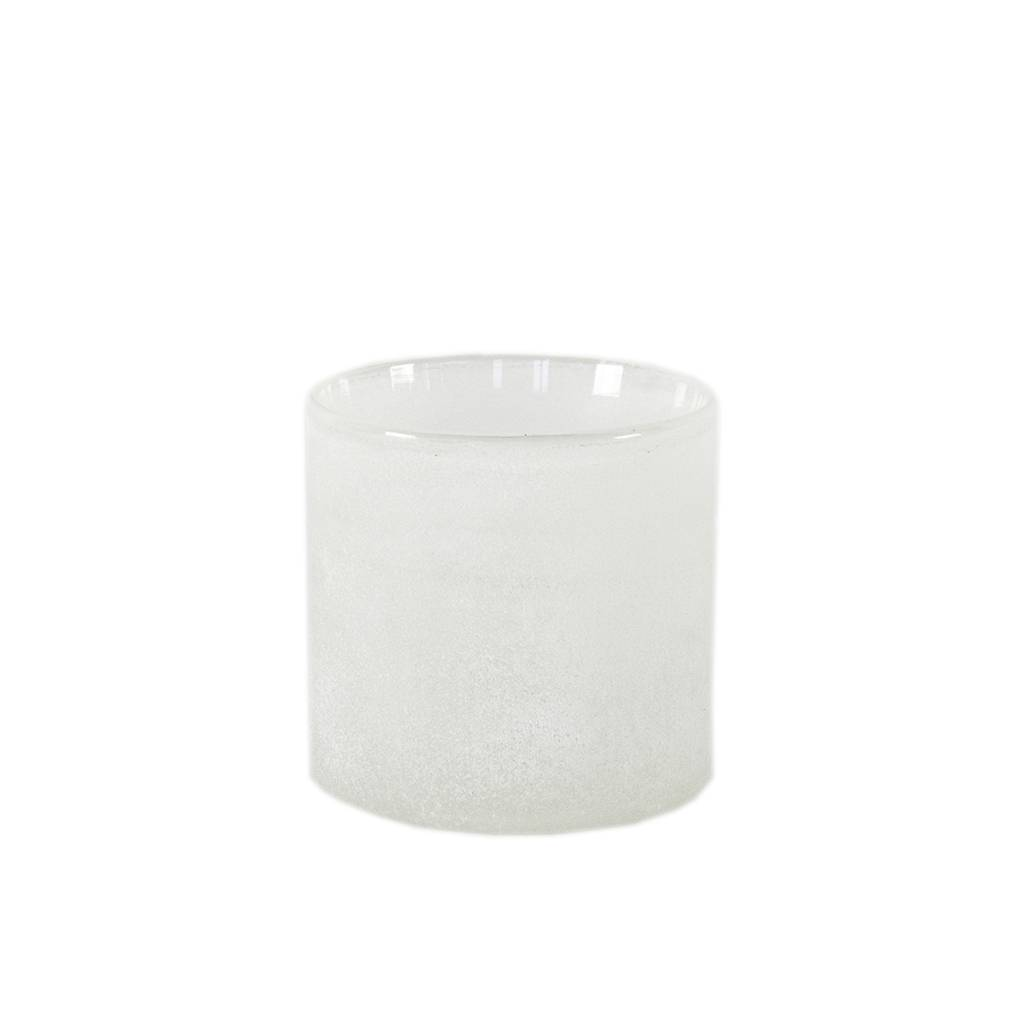 Tell Me More Frost Candleholder S, White
