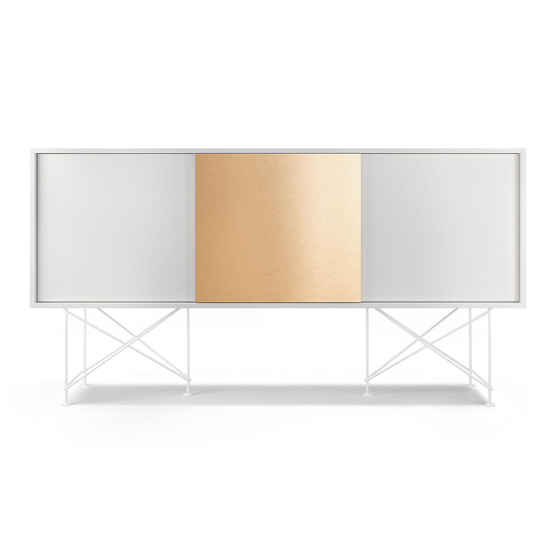 Decotique Vogue Sivupöytä 180cm,Valkoinen/Valkoinen