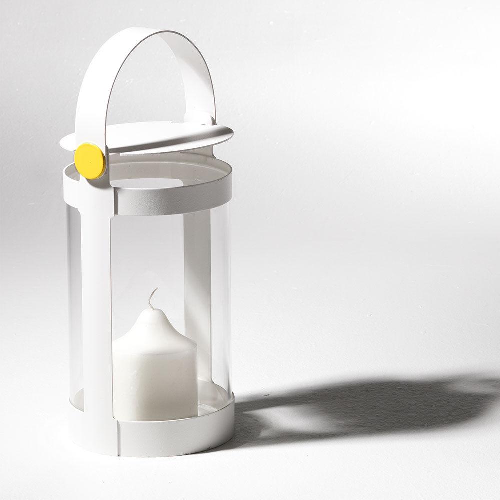 SMD Design Sirius Small Kynttilälyhty, Valkoinen/Keltainen