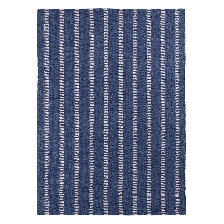 Decotique Tapis Bleu Rayé Matto 170x240cm, Sininen/Beige