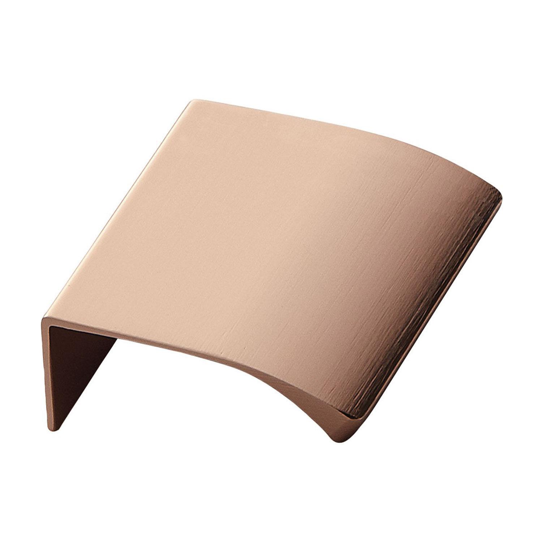 Beslag Design Edge Kahvoilla 40mm, Harjattu Kupari