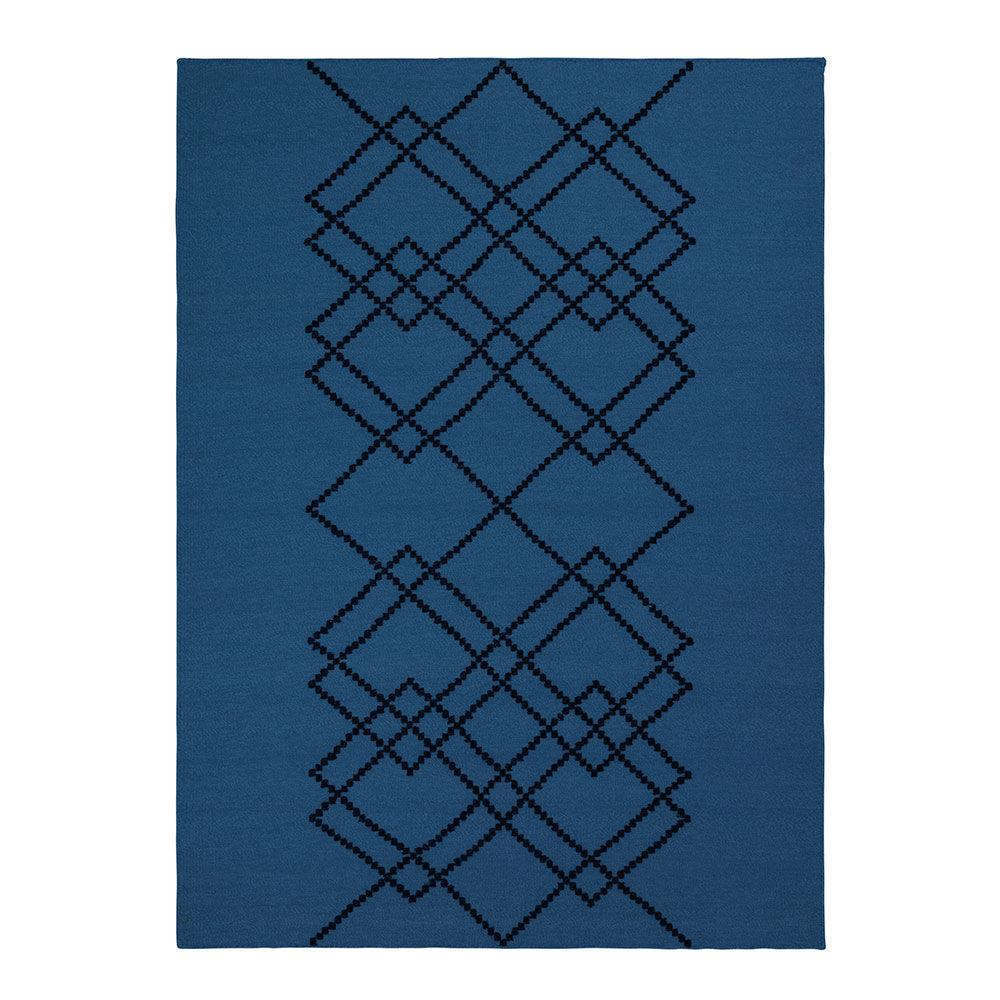 Louise Roe Matto Borg 170x240cm, Royal Blue