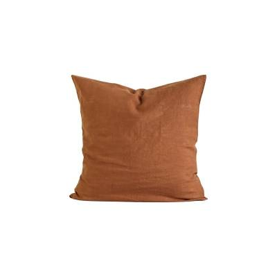 Tell Me More Linen Cushion Cover 65x65 cm, Amber