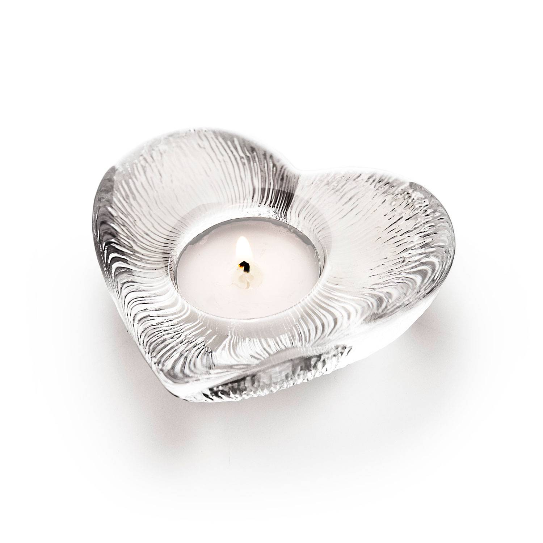 Målerås Glasbruk Heart Kynttilälyhty Ø11,5cm, Kirkas