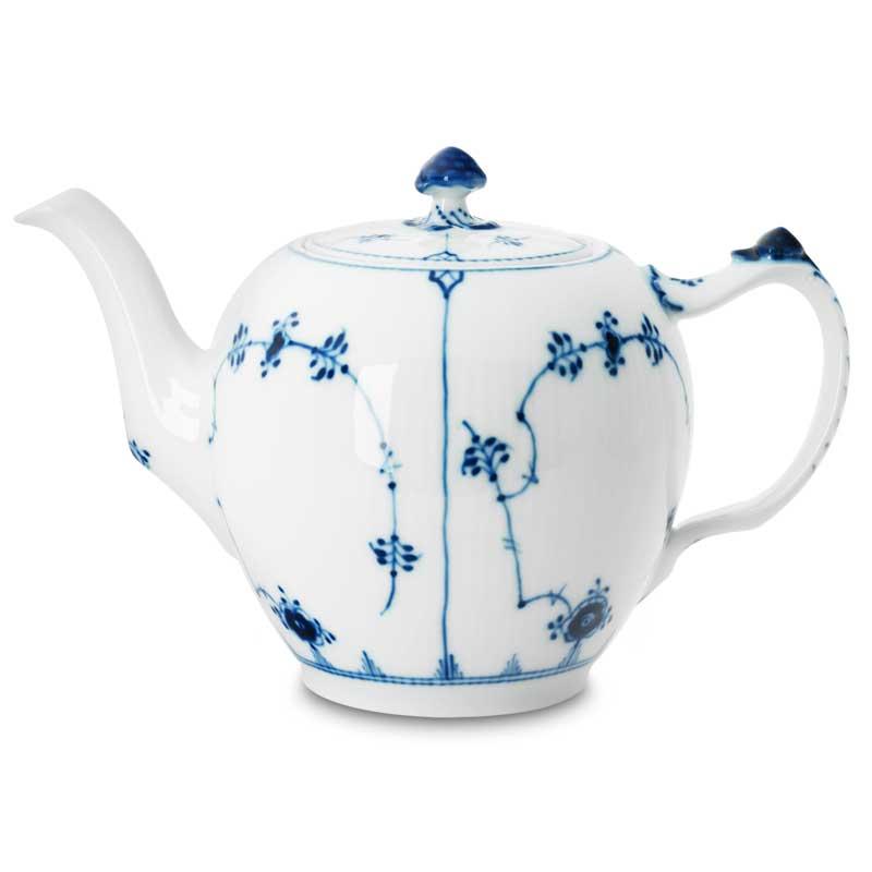Royal Copenhagen Blue Fluted Plain Teekannu 100 cl