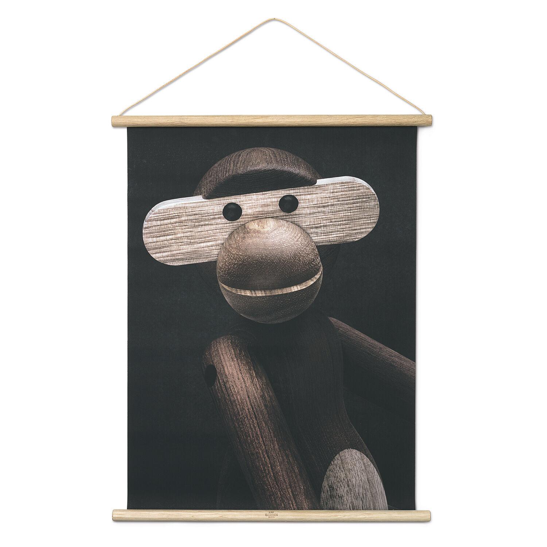 """Kay Bojesen Kay Bojesen Monkey Photo """"Portrait"""" 40x56cm"""