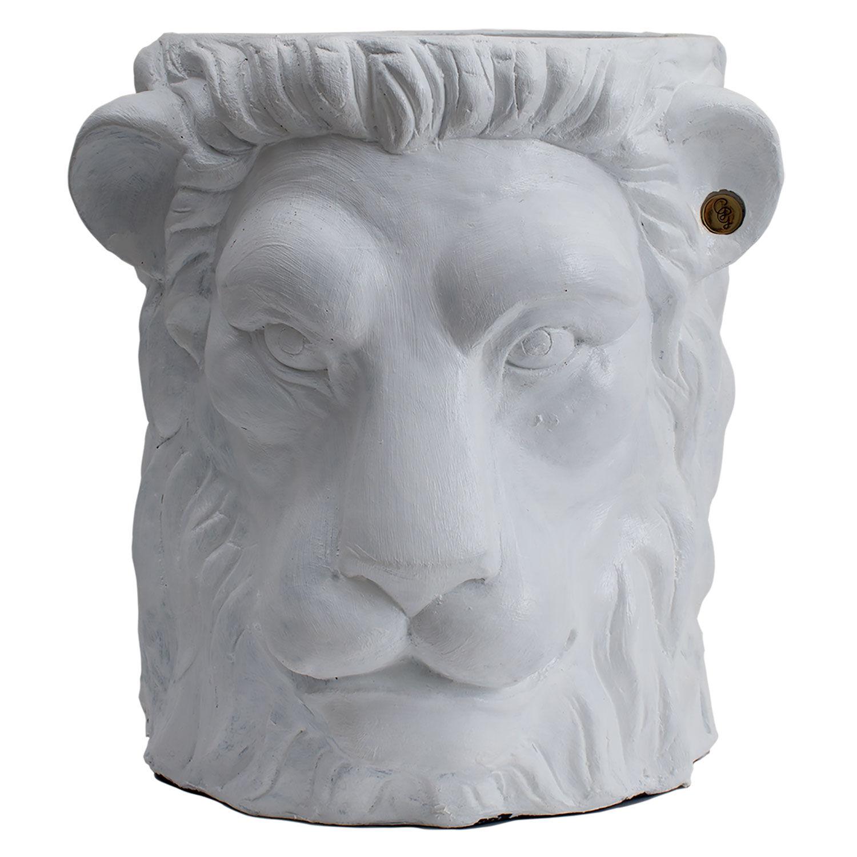 Garden Glory Garden Glory Lion Pot Ruukku L, Valkoinen