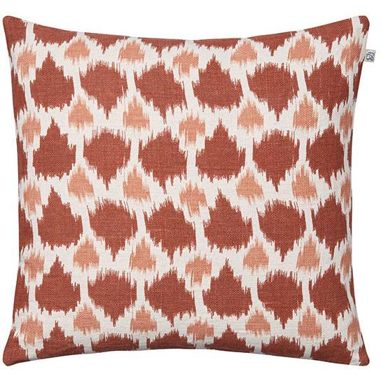 Chhatwal & Jonsson Assam Cushion Cover 50x50 cm, Apricot Orange/Rose