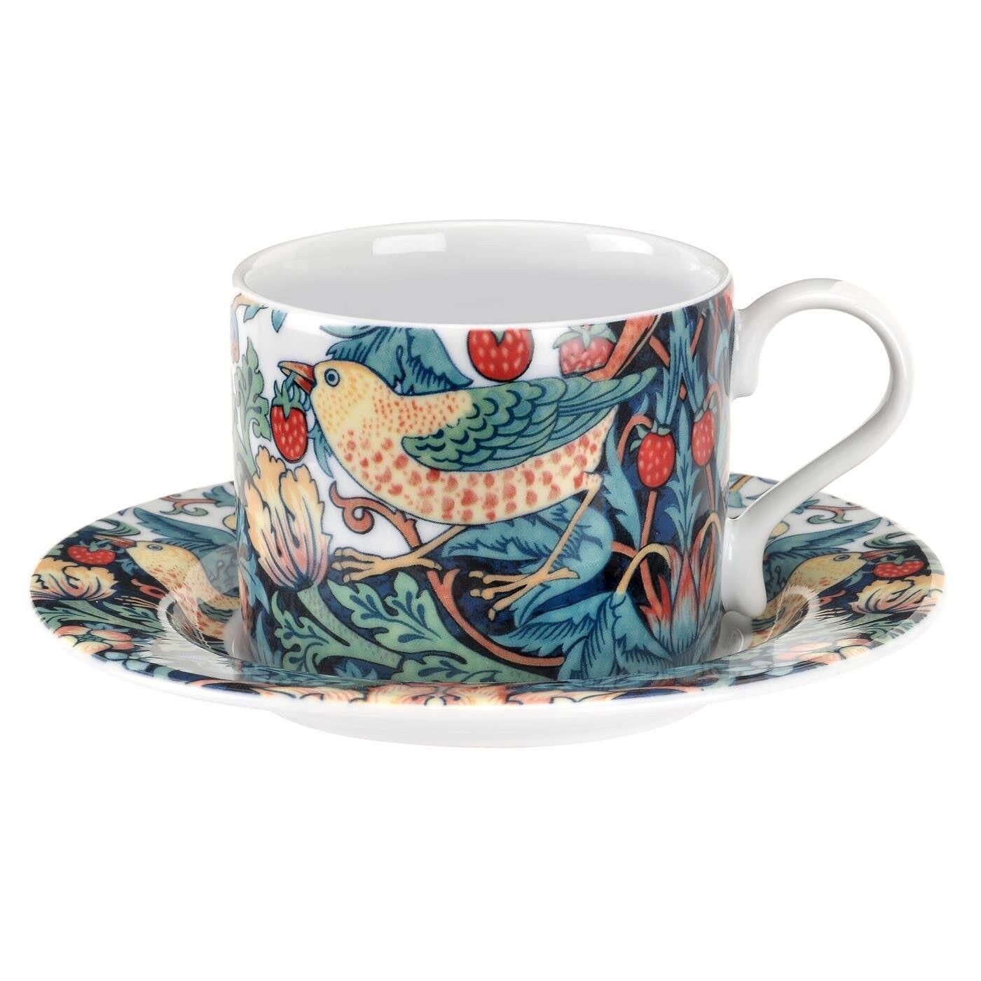 Spode Strawberry Thief Teacup And Saucer Set, 28 cl