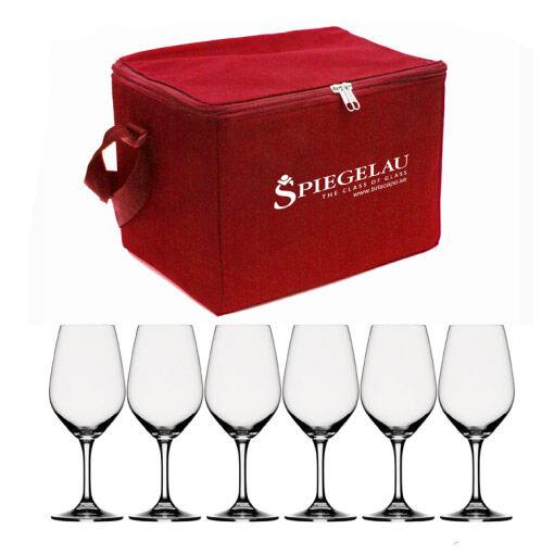 Spiegelau Expert Viinilasi-laukku sis 6 viinilasia, punainen