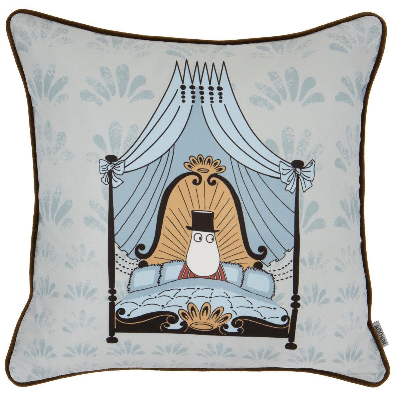 Moomin Moomin Dad Hotel Cushion Cover 50x50 cm, Grey/Navy