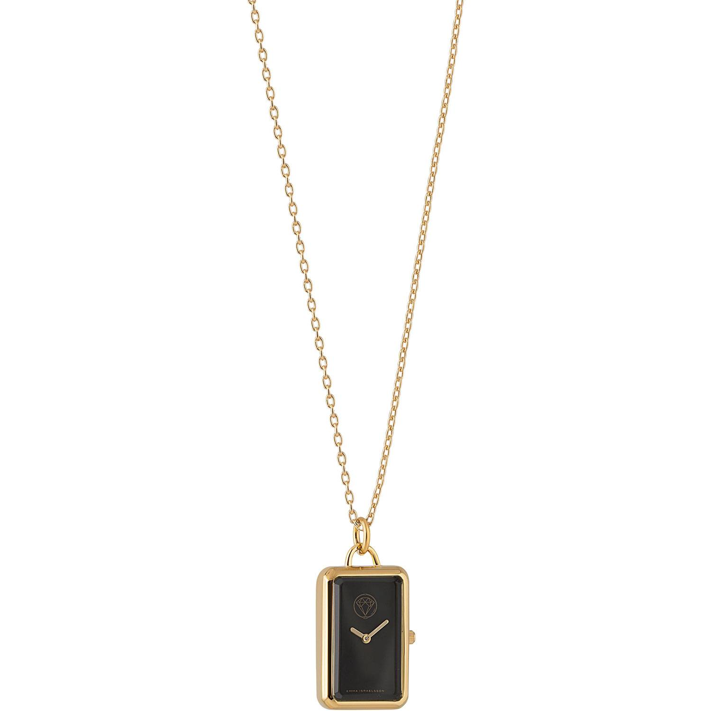 Emma Israelsson Watch Necklace, Gold/Black
