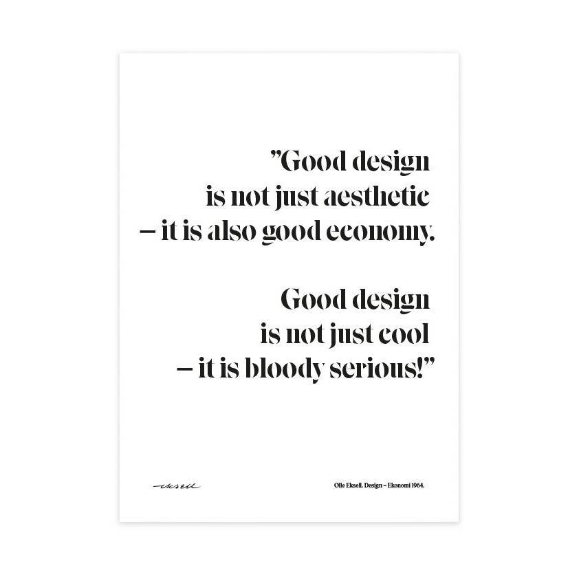 Olle Eksell Design = Ekonomi Quote Juliste 50x70cm