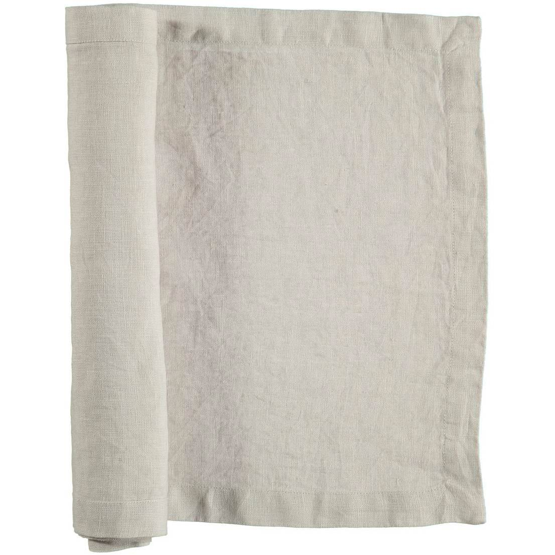 Gripsholm Washed Linen Runner 35x120 cm, Nature