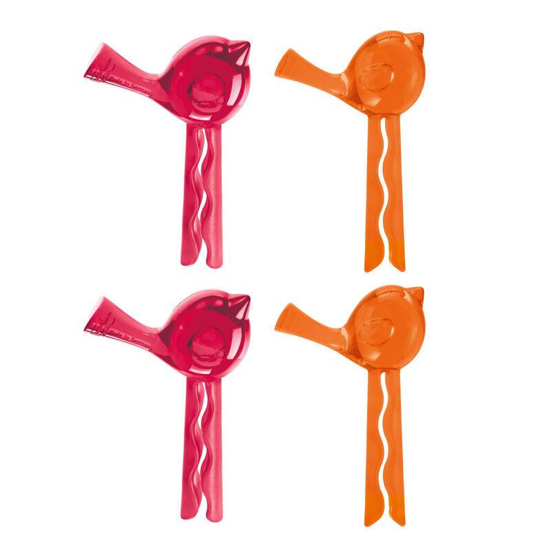 Koziol Pi:p Pussinsulkija, Setti 4 kpl, Oranssi/Punainen