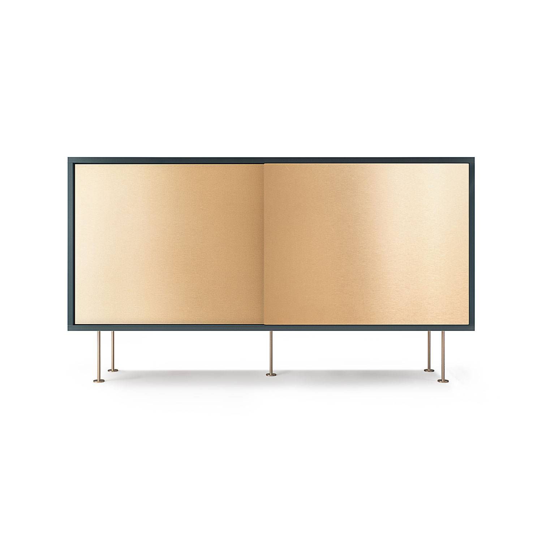 Decotique Vogue Sivupöytä, 136cm, Harmaa/Messinki