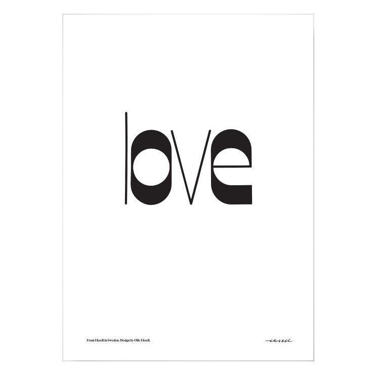 Olle Eksell Love Juliste 50x70cm