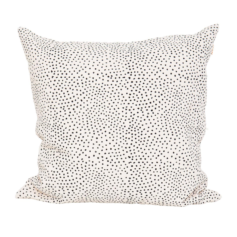 Afroart Fleck Tyynynpäällinen 50x50cm, Musta/Valkoinen