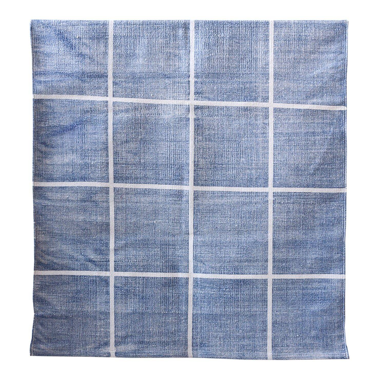 Tell Me More Square Rug 140x200 cm, Blue