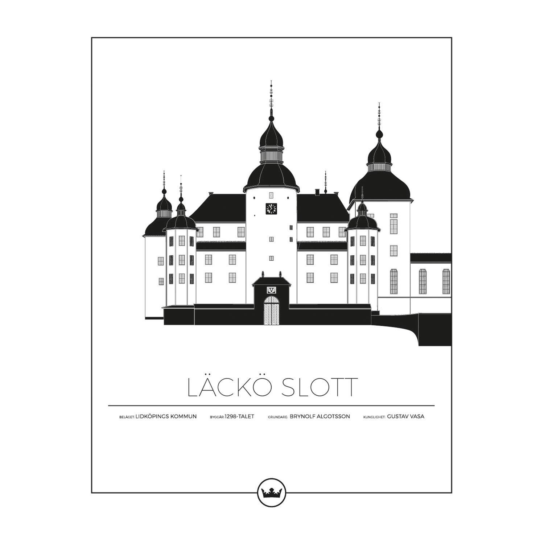 Sverigemotiv Läckö Slott Lidköping Poster 40x50cm
