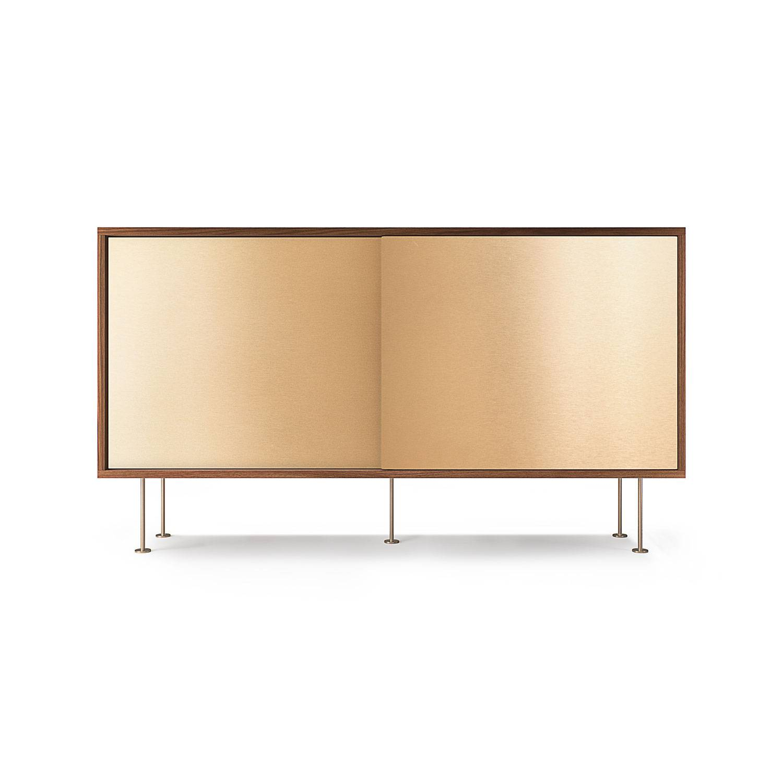 Decotique Vogue Sivupöytä, 136cm,Saksanpähkinä/Messinki