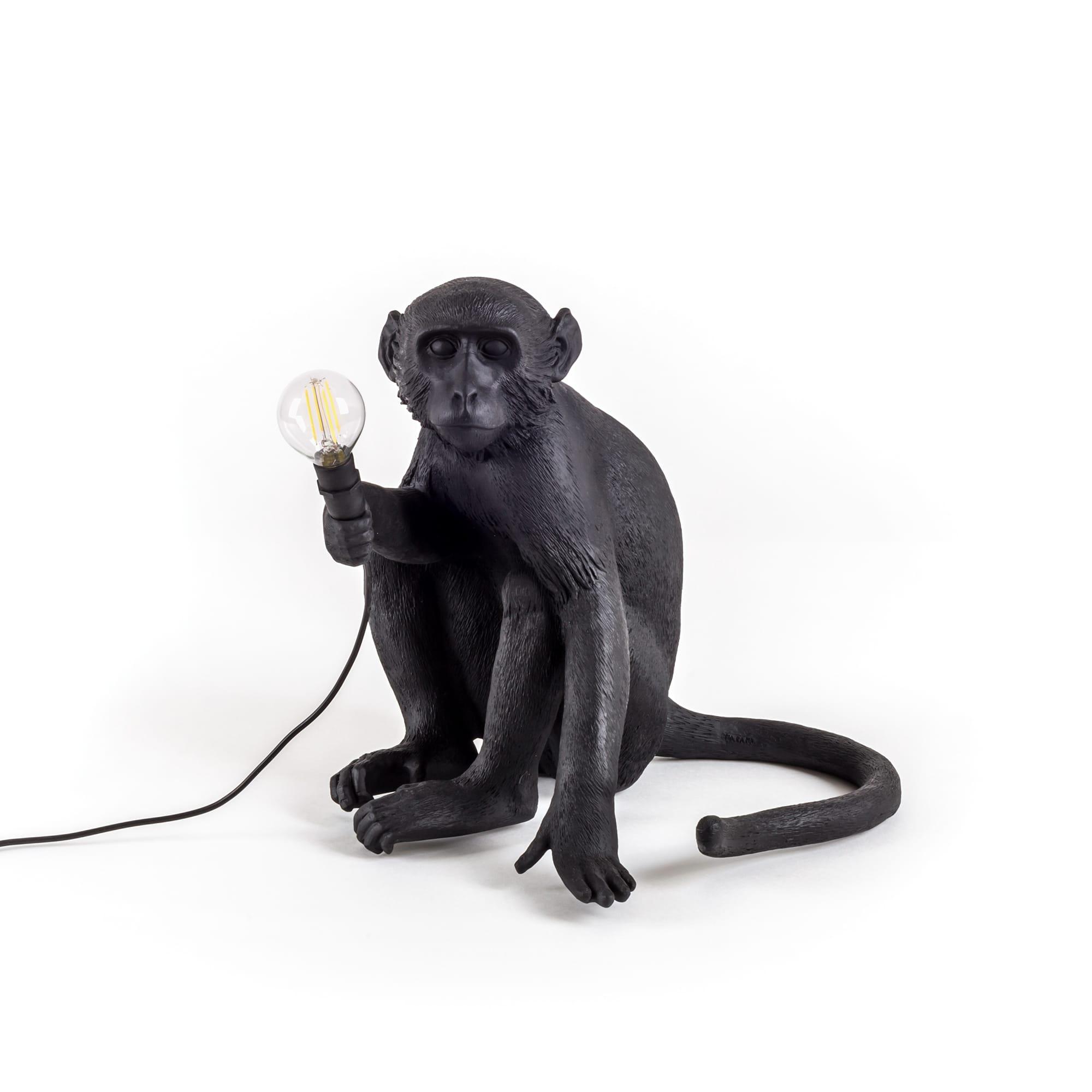 Seletti Apina-pöytälamppu ulkokäyttöön, musta