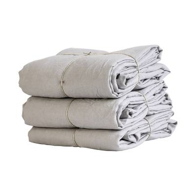 Tell Me More Linen Duvet Cover 140x200 cm, Light Grey