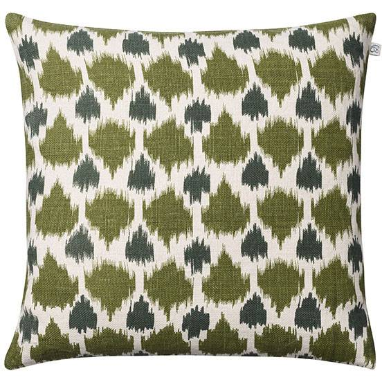 Chhatwal & Jonsson Assam Cushion Cover 50x50 cm, Cactus Green/Green