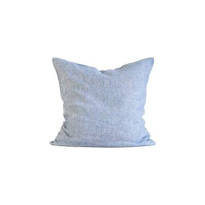 Tell Me More Linen Cushion Cover 65x65 cm, Woven Light Blue