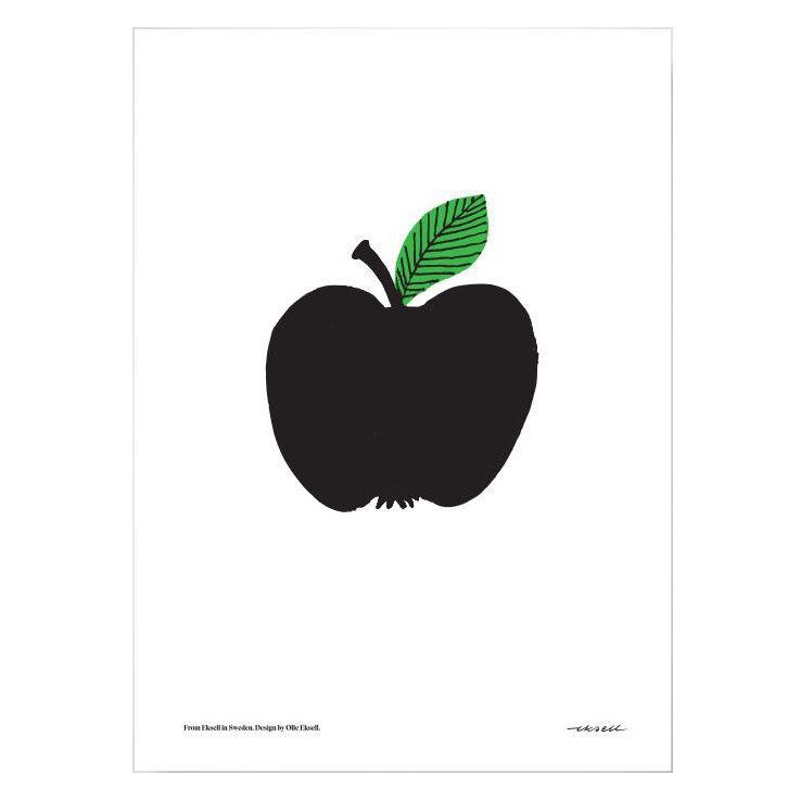 Olle Eksell Black Apple Juliste 50x70cm