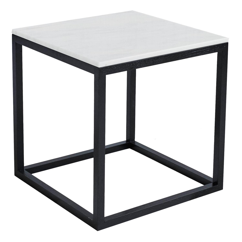 Kristina Dam The Cube sivupöytä M, valkoinen marmori/musta