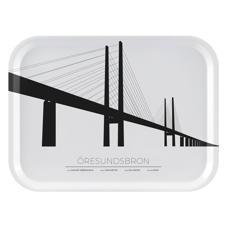 Sverigemotiv Öresundsbron Malmö/Köpenhamn Tarjotin 27x20cm