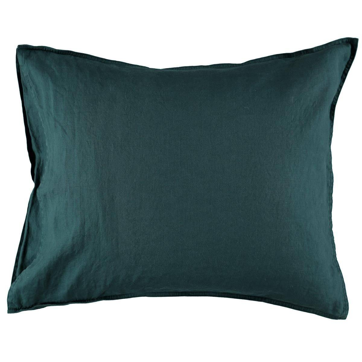 Gripsholm Washed Linen Pillowcase 50x60 cm, Petrol