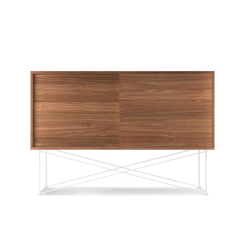 Decotique Vogue Sivupöytä, 136cm, Saksanpähkinä/Valkoinen