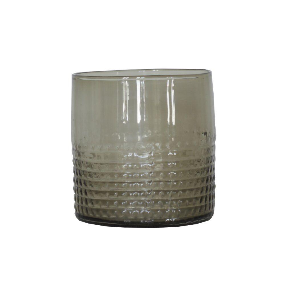 Tell Me More Facette Candleholder S, Grey