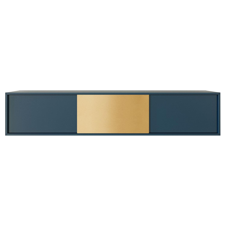 Decotique Vogue Seinäkaappi 180cm, Tum.Sininen/Messinki